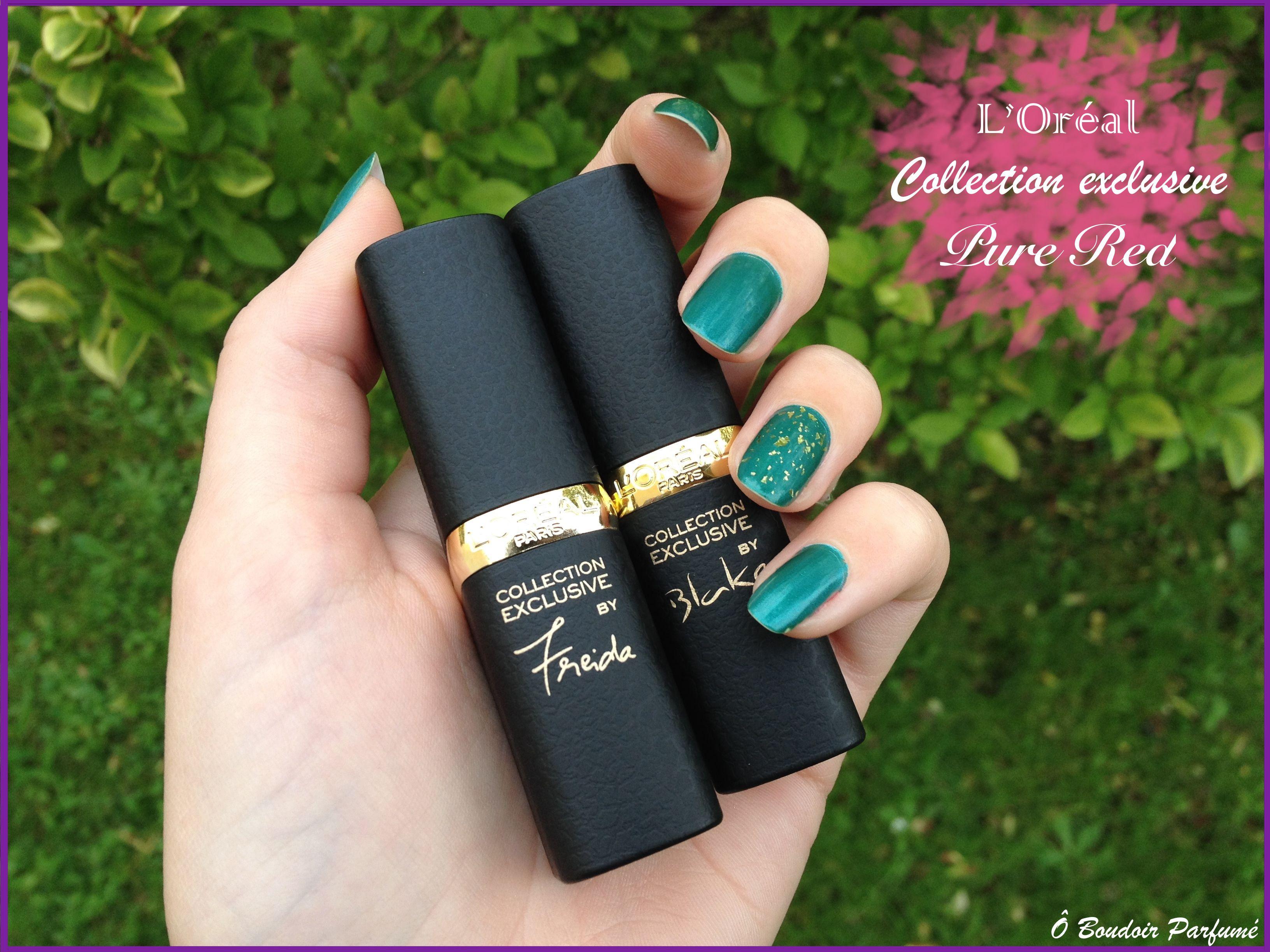 Les nouveaux rouges à lèvres de la collection exclusive pure red l'Oréal  http://oboudoirparfume.blogspot.fr/2014/11/pure-red-de-loreal-mes-levres-habillees.html