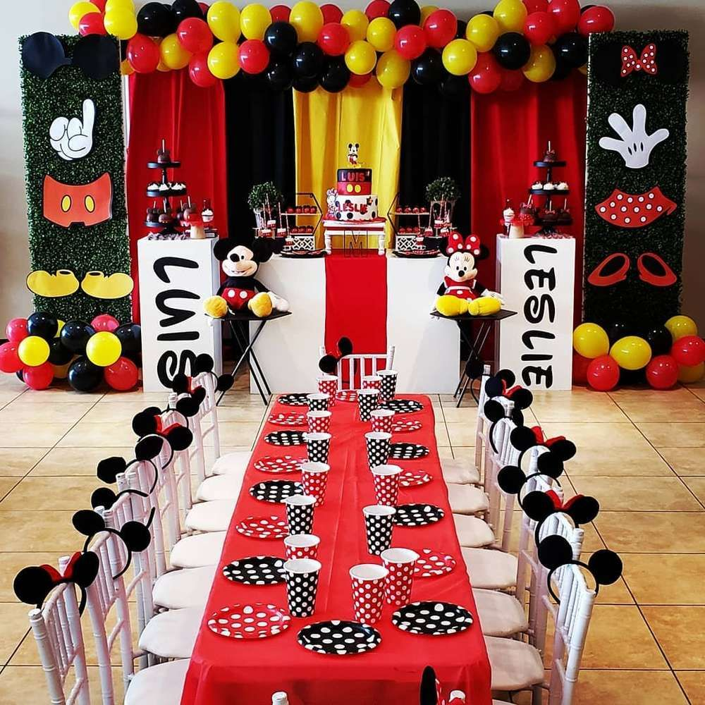 MICKEY MOUSE MINNIE MOUSE Birthday Party Ideas  Photo 6 of 65