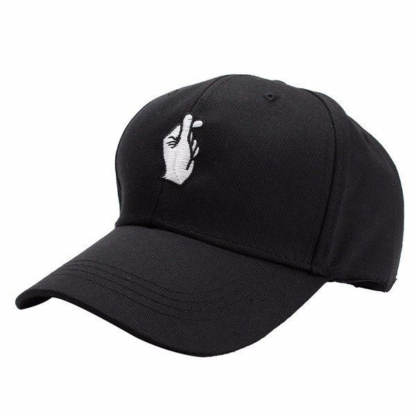 6978fa84556 Men Women Hand Love Adjustable Hat Hip Hop Kpop Curved Strapback Baseball  Cap is designer