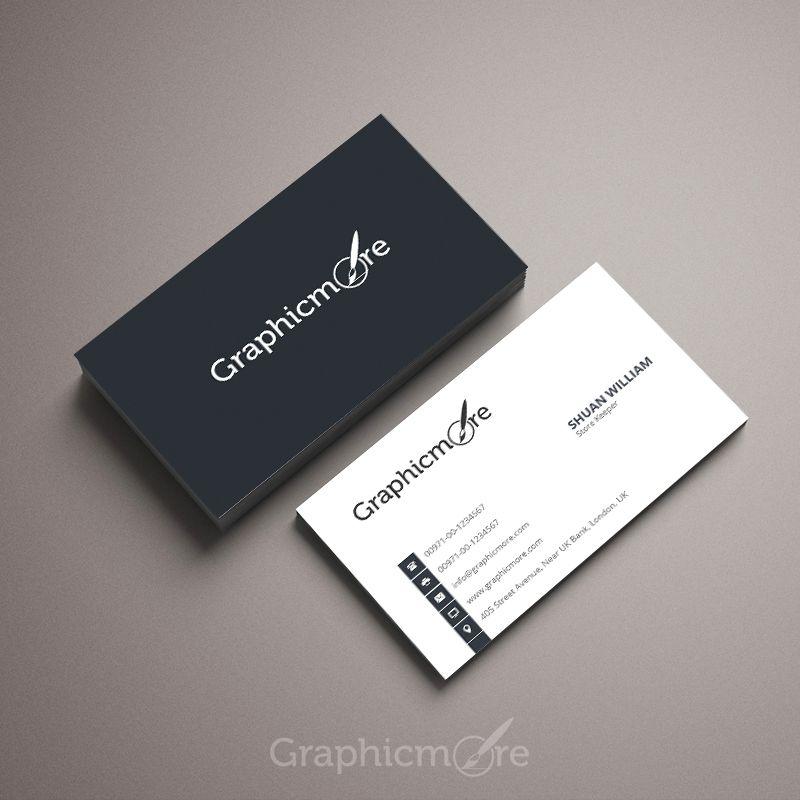 Simple Corporate Business Card Template Design Free Psd File Business Free Business Card Templates Business Card Psd Photographer Business Card Template