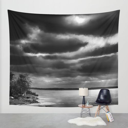 Harsh morning Wall Tapestry by HappyMelvin | Society6