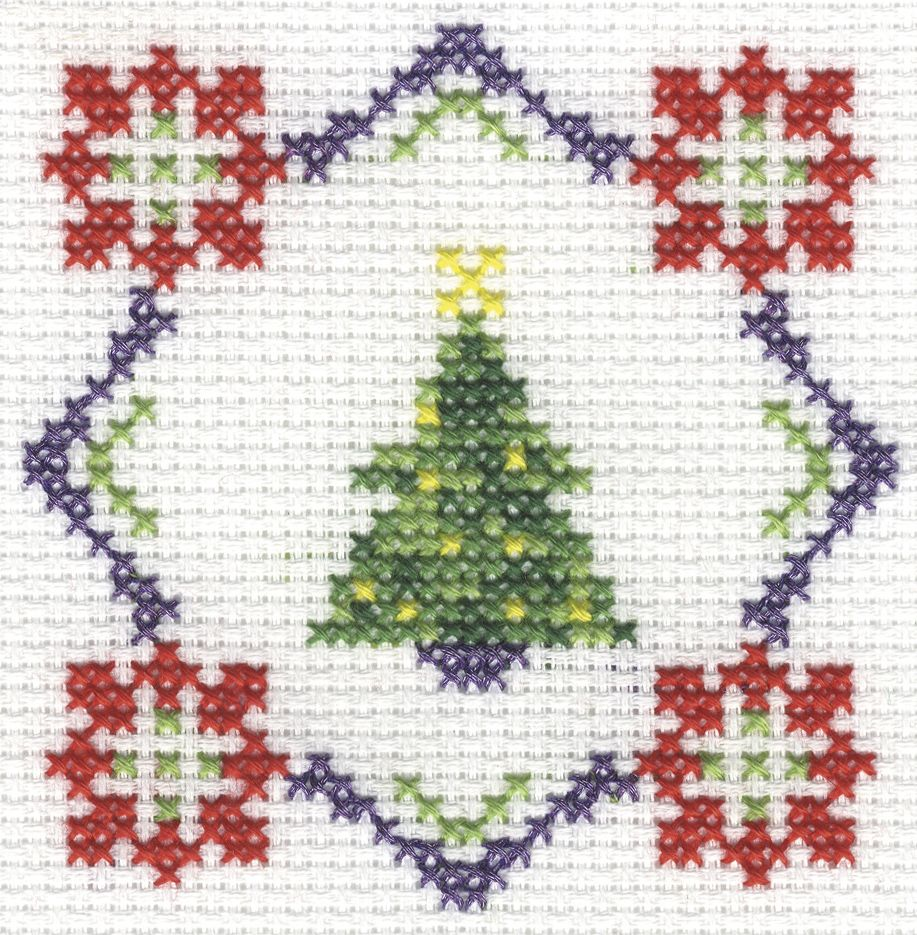 This quick and simple free festive cross stitch chart is available ...