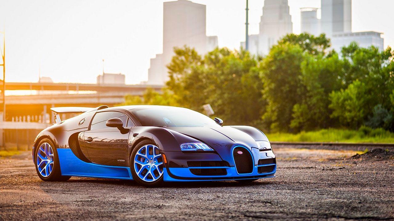Wallpaper Blue Side View Grand Bugatti Veyron Wallpapers Hd Bugatti Veyron Bugatti Wallpapers Veyron