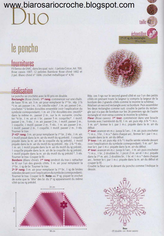 Entre as laçadas: Poncho Duo e Poncho Olive em crochê