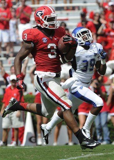 Georgia Bulldogs - Todd Gurley making the run for touchdown - ESPN ... 245a9f4e0