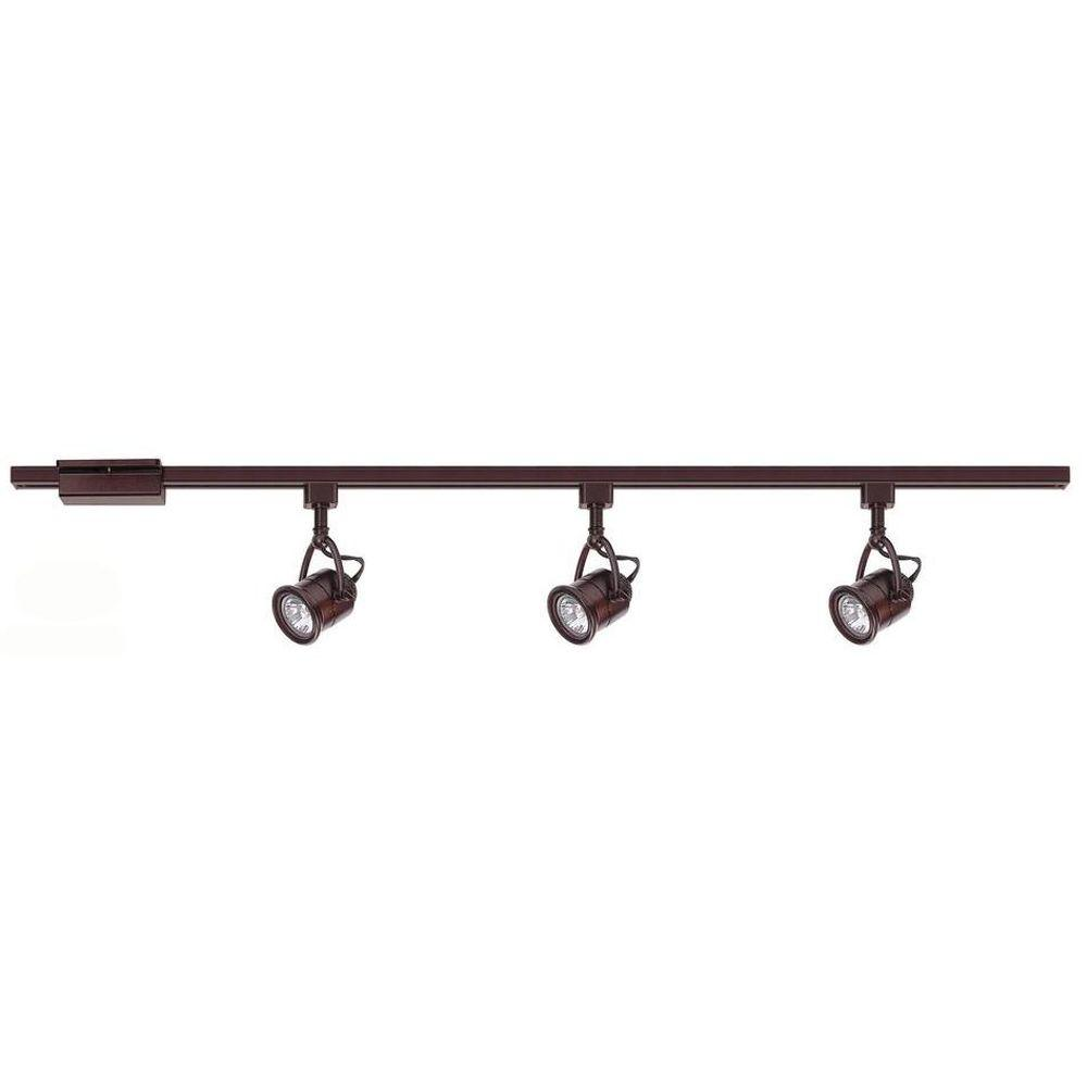 Hampton Bay 3 Light Antique Bronze Linear Track Lighting Kit