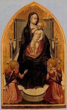 Trittico di San Giovenale ( 1422 ) , scomparto centrale - Masaccio