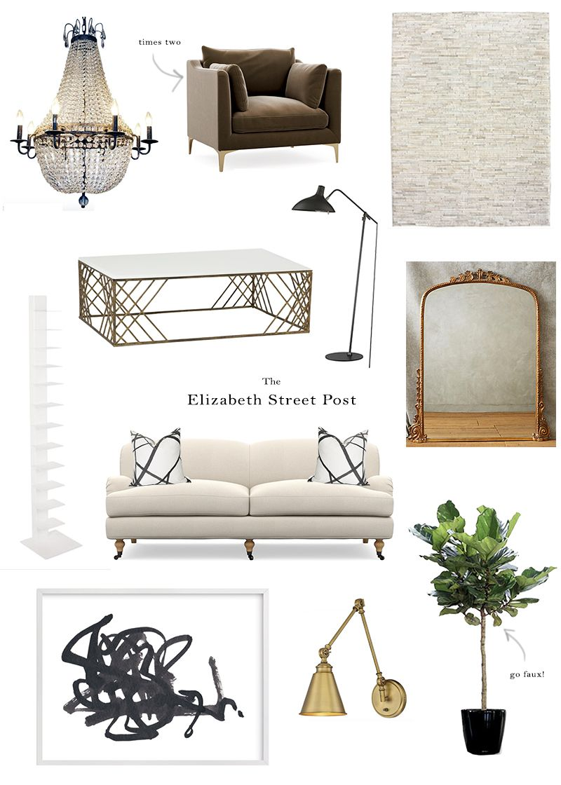Our Living Room Design – The Elizabeth Street Post: A Lifestyle Blog ...