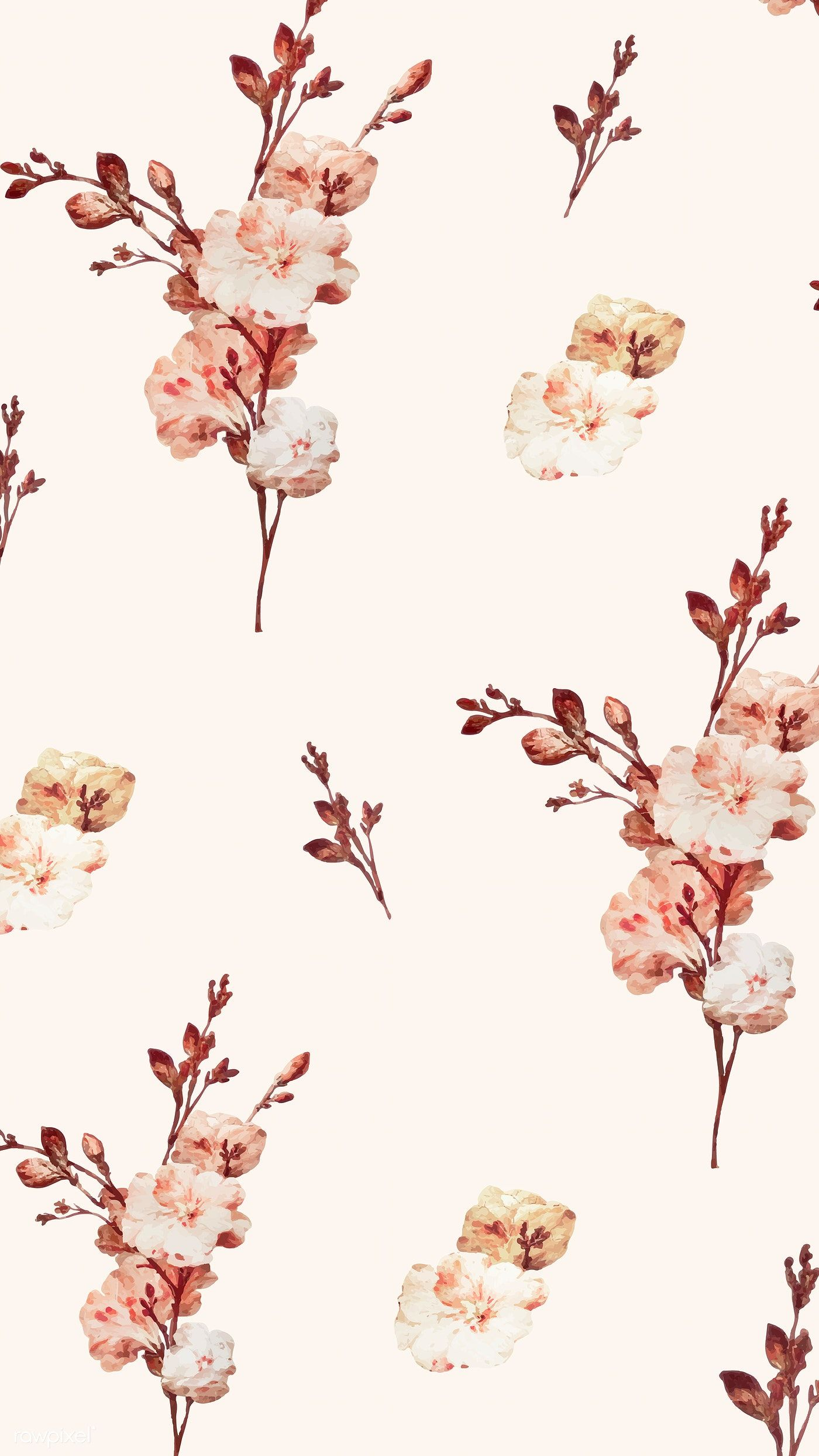 Download Premium Vector Of Vintage Floral Background Illustration