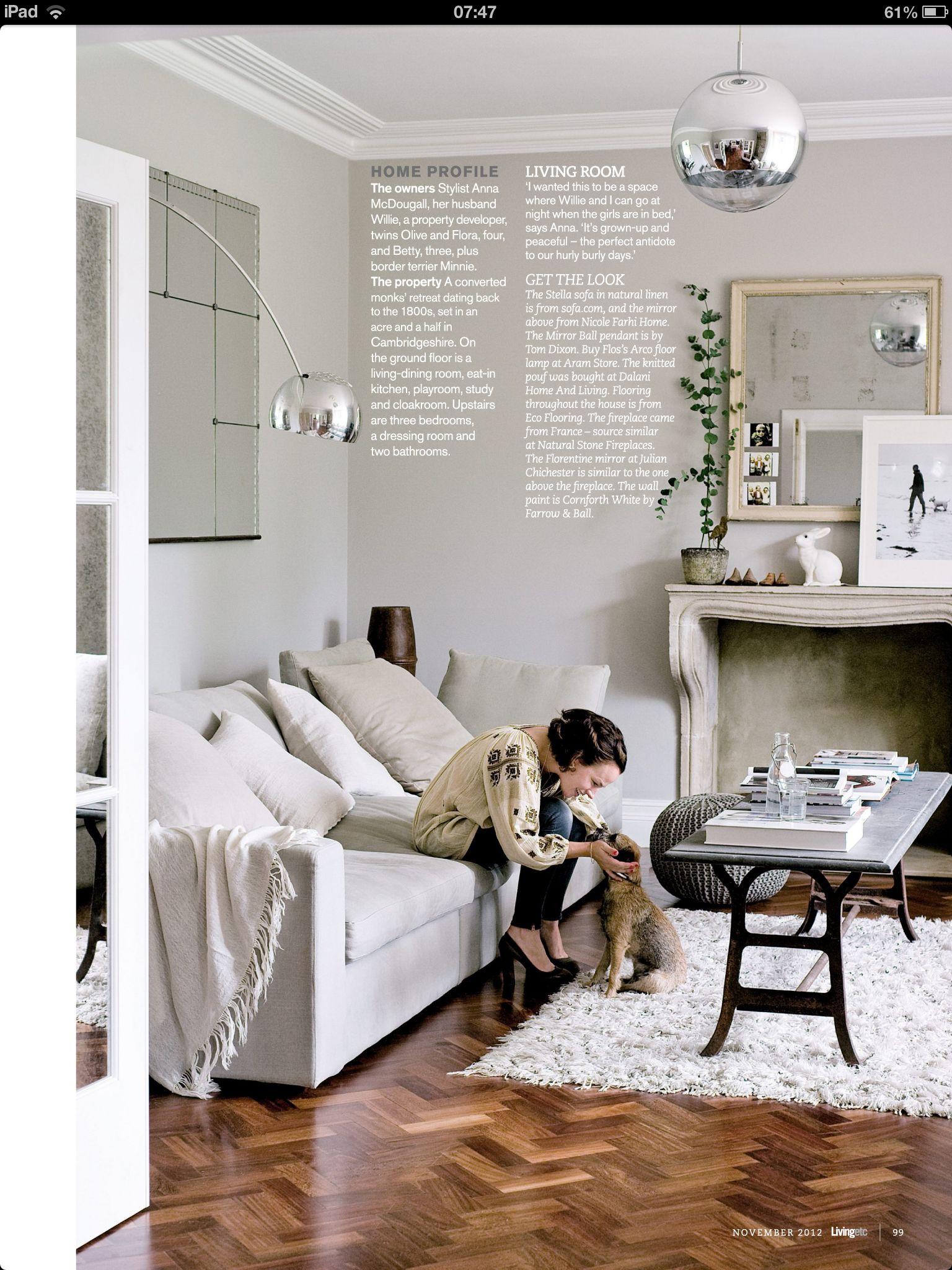 get stylist Anna McDougal\'s look with the sofa.com Stella three seat ...