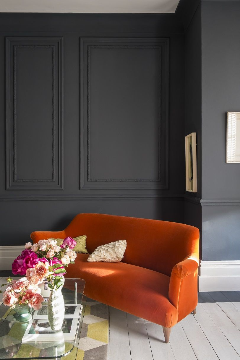 Home interior colors orange at home with joa studholme  for the home  pinterest  sofa