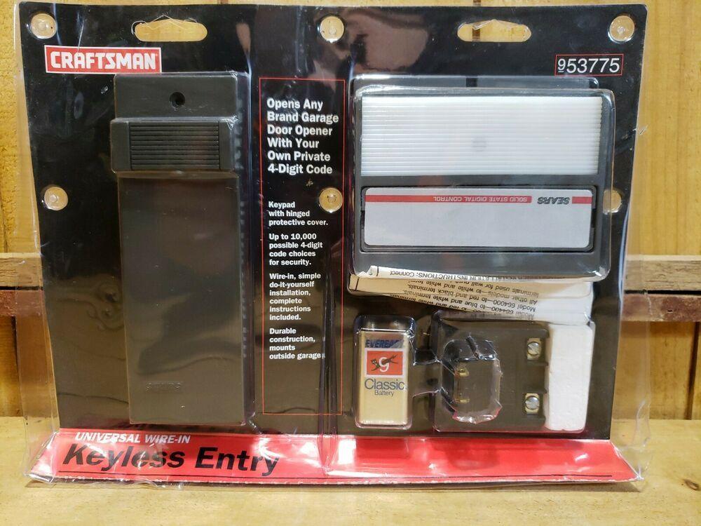 Sears Craftsman Universal Wire In Keyless Entry Garage Door Opener