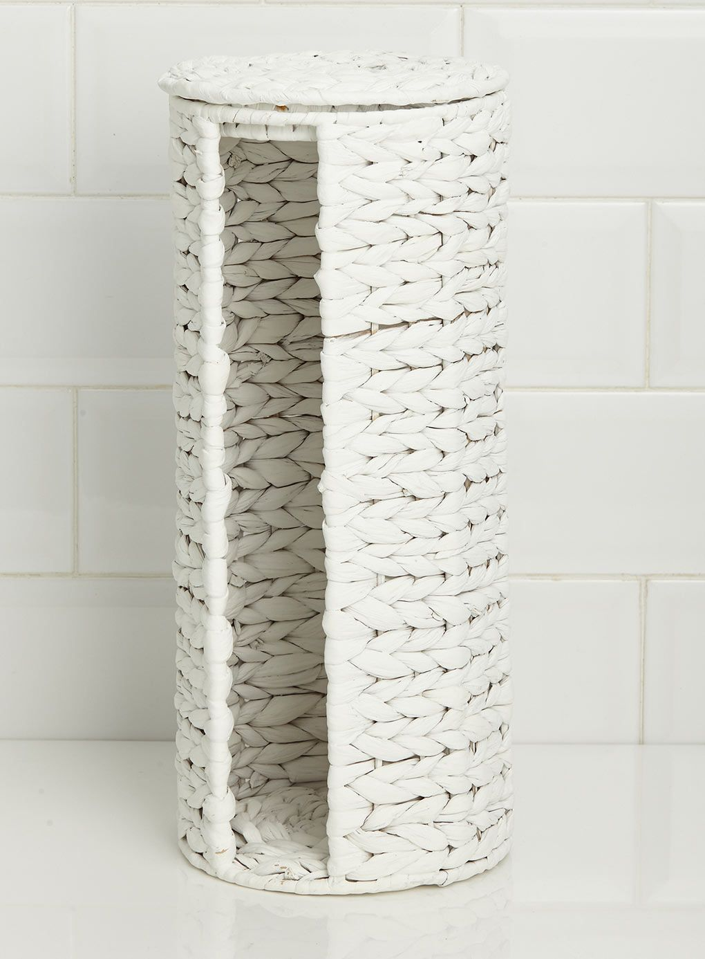 Bhs Bathroom Storage White Waterhyacinth Toilet Roll Holder Alb10 Home Bathroom