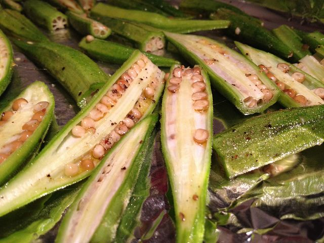 Spicy Roasted Okra!