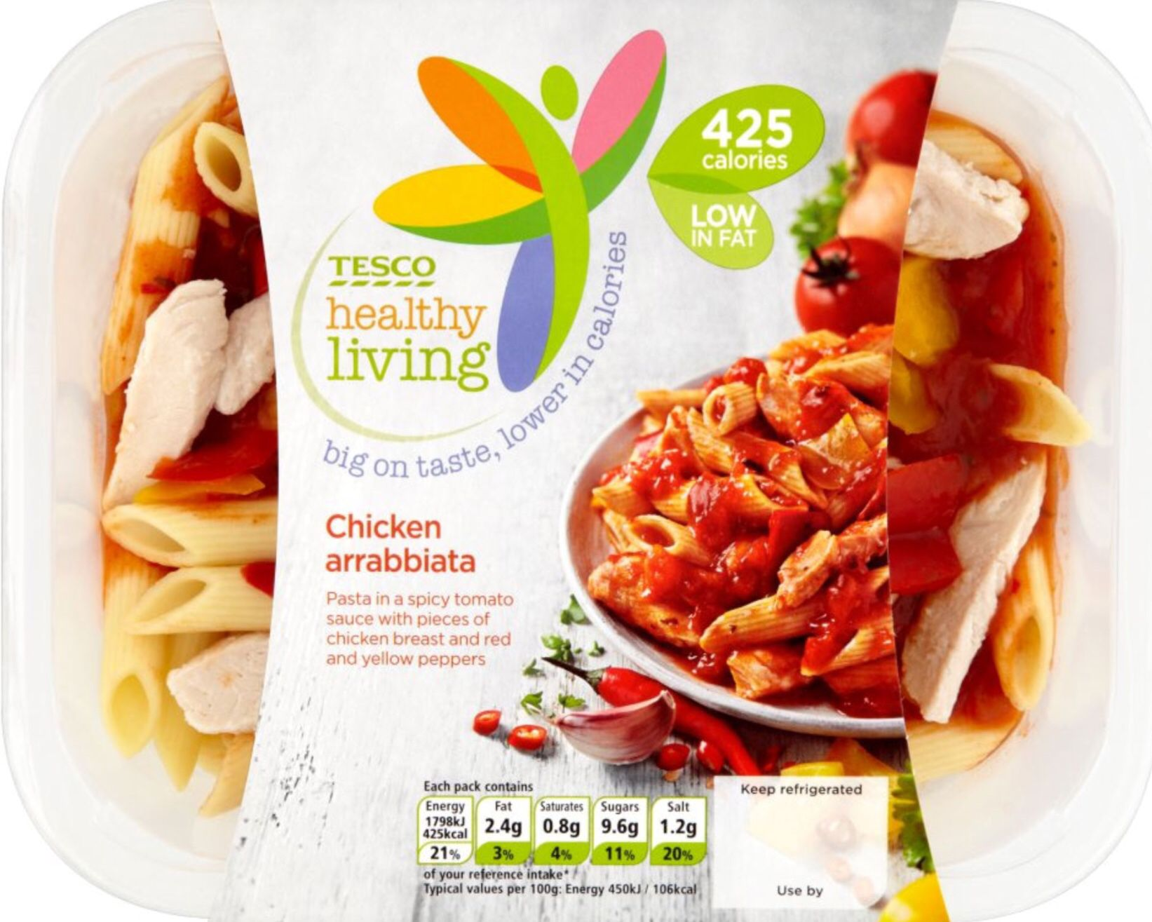 Tesco healthy living chicken arrabbiata chilled 400g pack 4 syns on extra easy tesco Simple slimming world meals