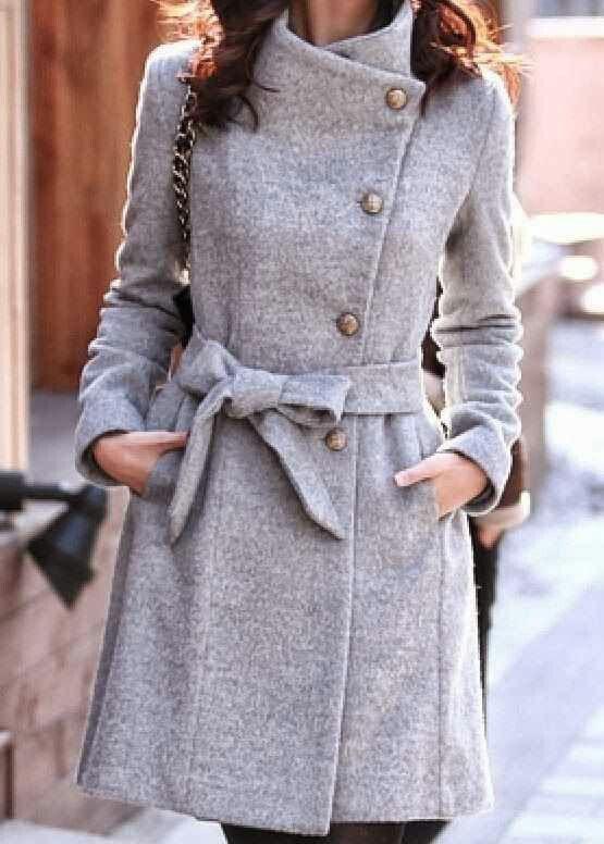Classy grey coat.