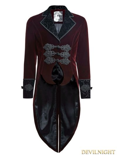 52b5d09ee Wine Red Gothic Gentle Jacket with Scissors Tail | Stuff to Buy ...