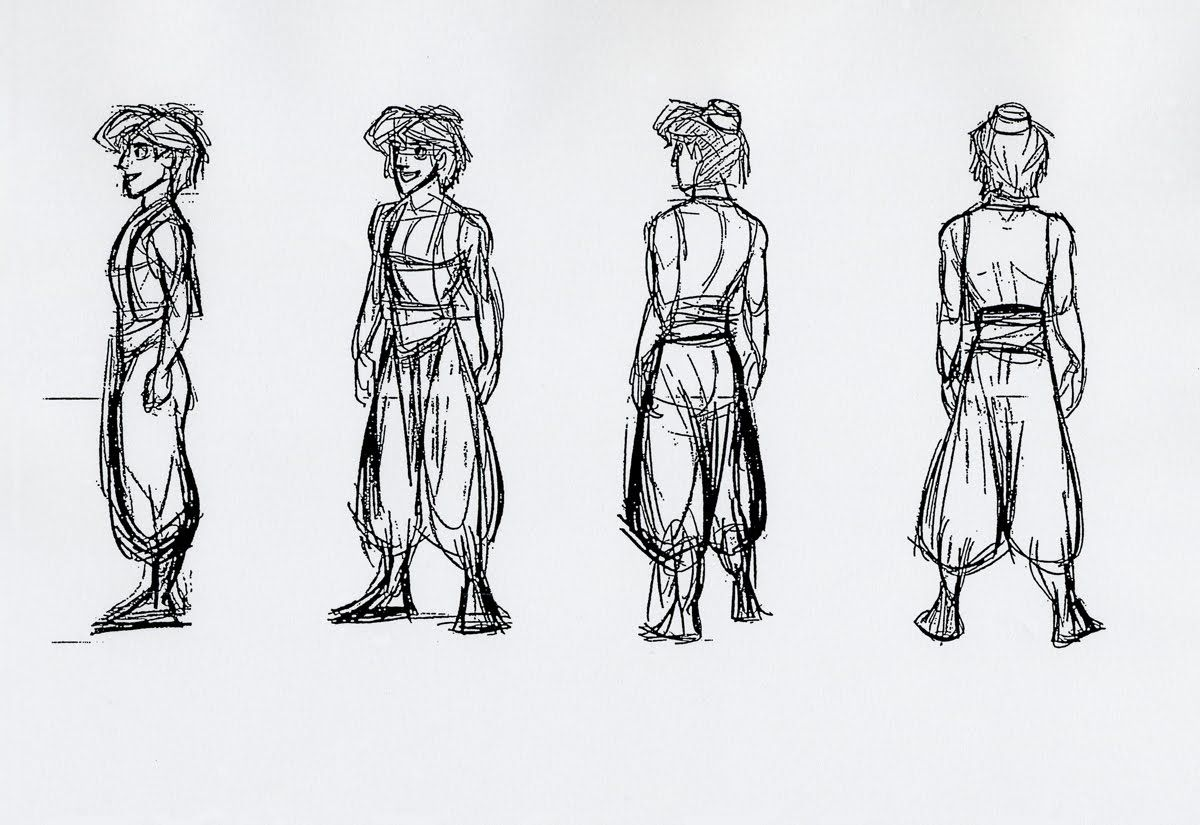 Character Design Side View : Aladdin turnaround animation puppetry pinterest