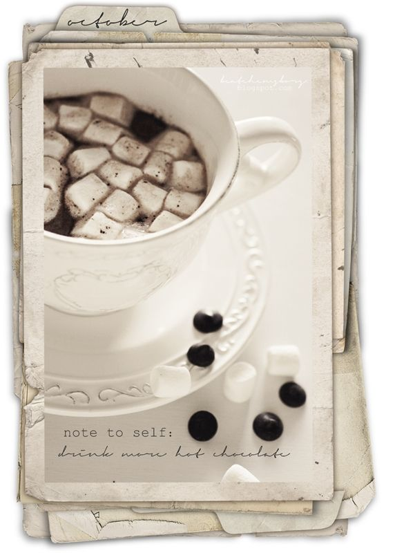 Drink more hot chocolate with chocolate chips