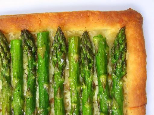 asparagus tart - made this for tex's  family get together this weekend.  It was a hit!  So easy too!