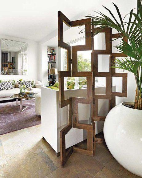 Un piso con jardn urbano Pinterest Separacin Recibidor y Biombos