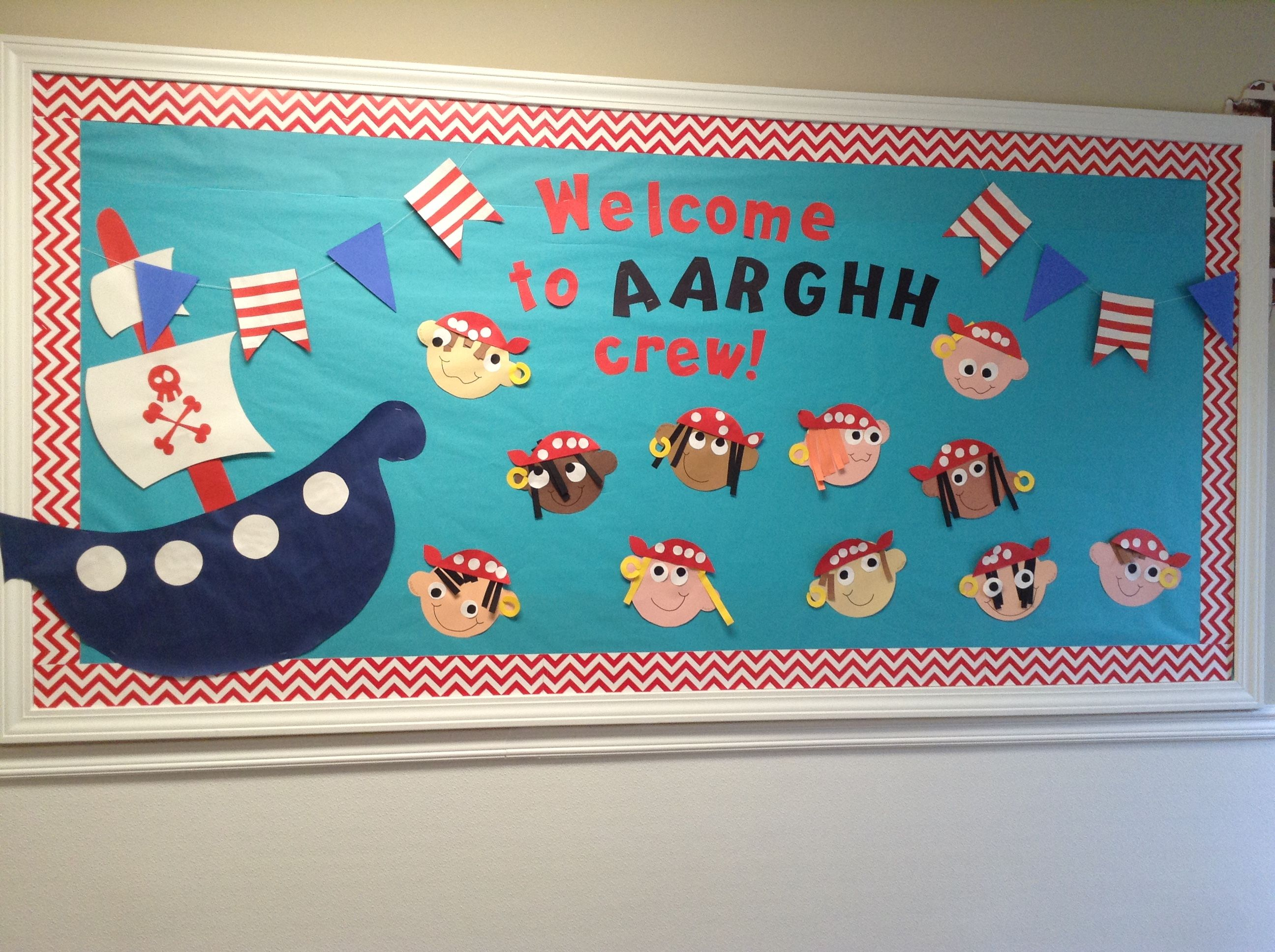Pirate Nautical Back To School Bulletin Board With