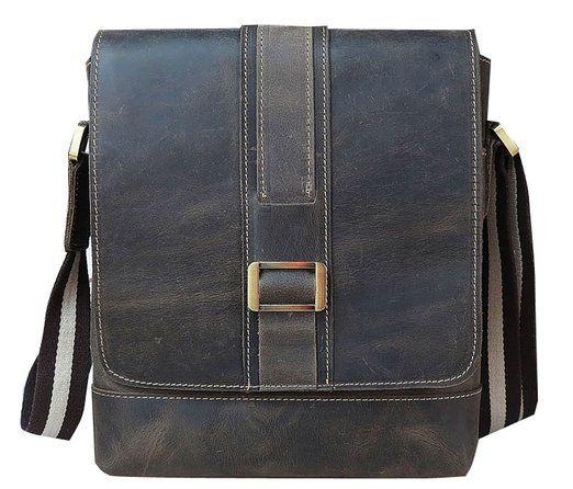 Distressed Genuine Leather Casual Crossbody Messenger Shoulder Bag Gift Idea
