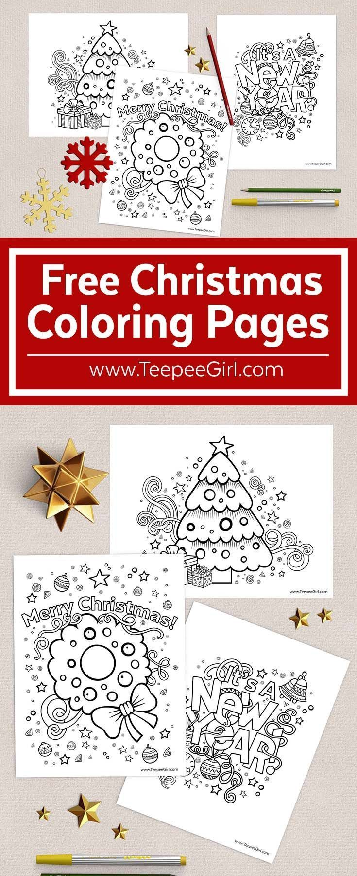 These Free Christmas Coloring Pages Are The Perfect Way To Keep Kids Happy And B