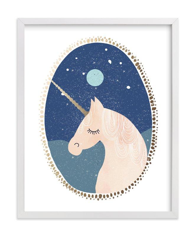 Quot Unicorn Dreams Quot Foil Pressed Art Print By Hannah