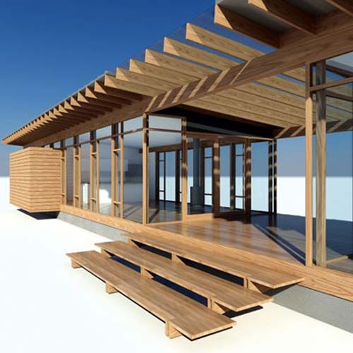 Bon Whidbey Island Cabin, Glass Wood House Design By Vandeventer + Carlander  Architects