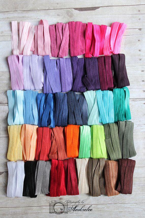 A rainbow of satin elastic (for those addictive hair bands)