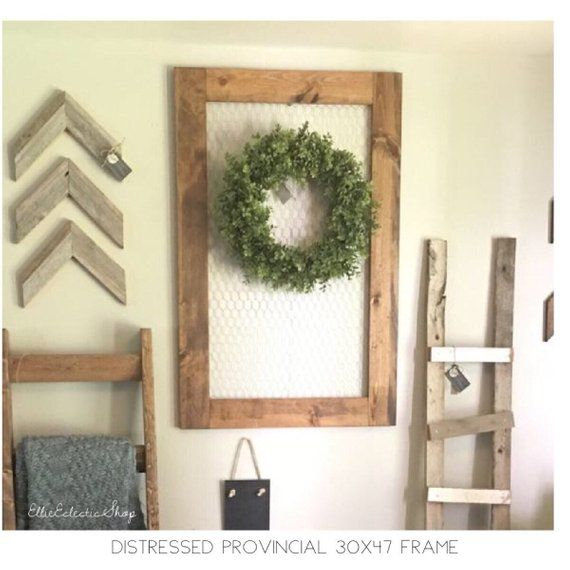 Extra Large Chicken Wire Frame Christmas Cards Holder