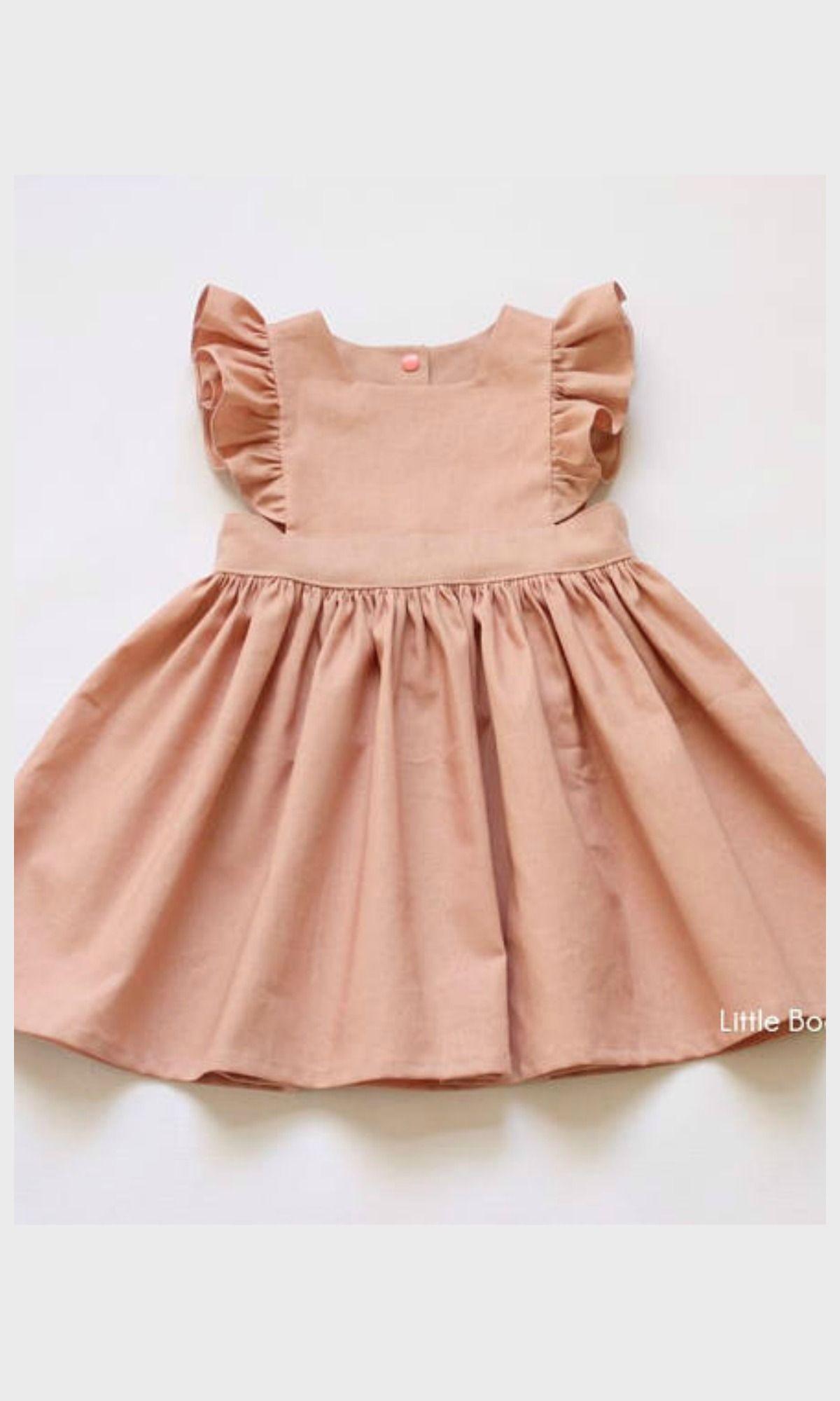 827ccaf84dfa pretty Easter dress  blush linen pinafore dress  toddler  affiliate ...