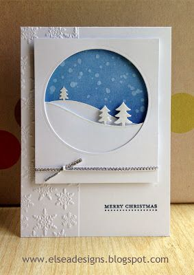 handmade card for 52 {Christmas} Card Throwdown... delifghtful snowy scene ... great layout ... Stampin' Up!