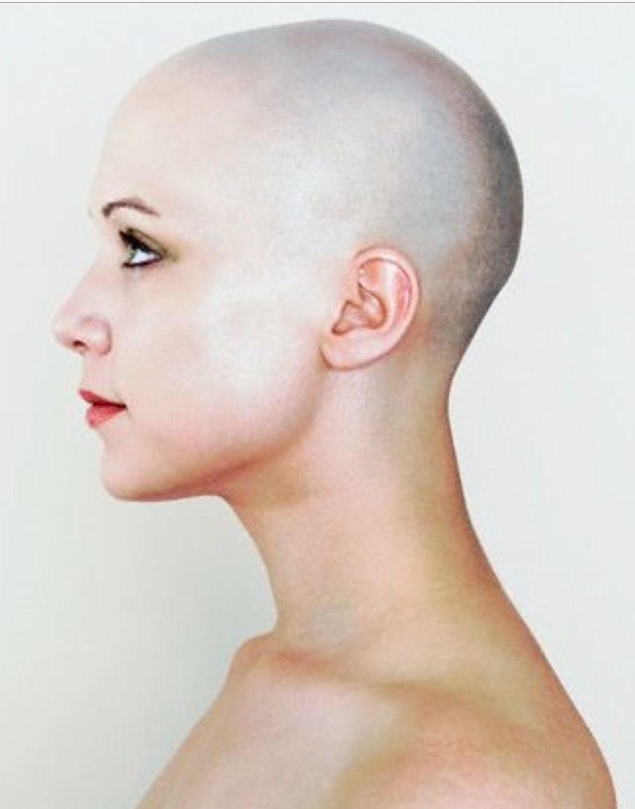 Hairdare Bald Smooth Headshave Closeshave Baldwoman Shavedhead Beautiful Face Profile Female Profile Side View Of Face