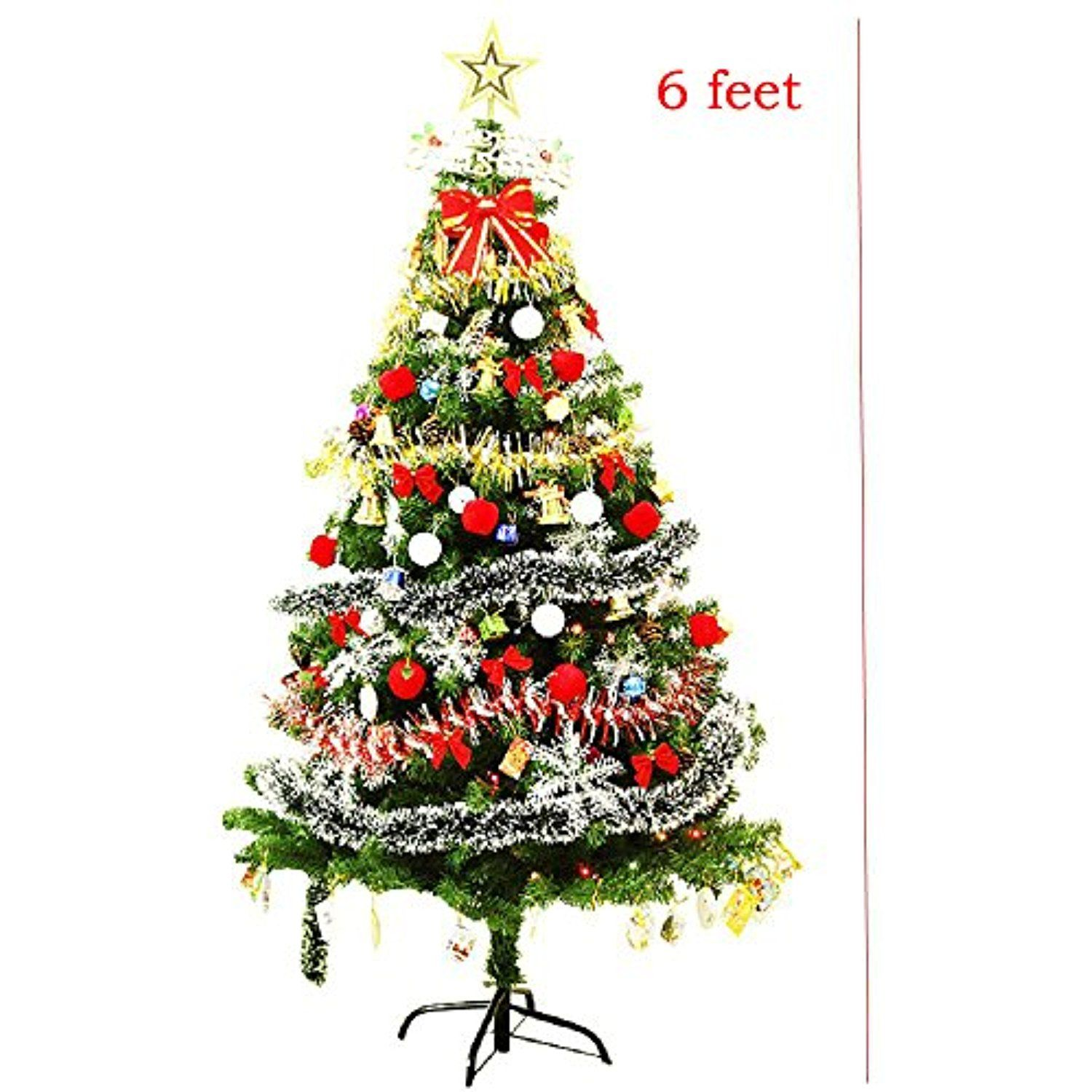 pre lit decorated christmas tree ft battery operated decorated with ornaments snowflakes cones stars gift boxes etc ft learn more by visiting the - Battery Operated Christmas Tree