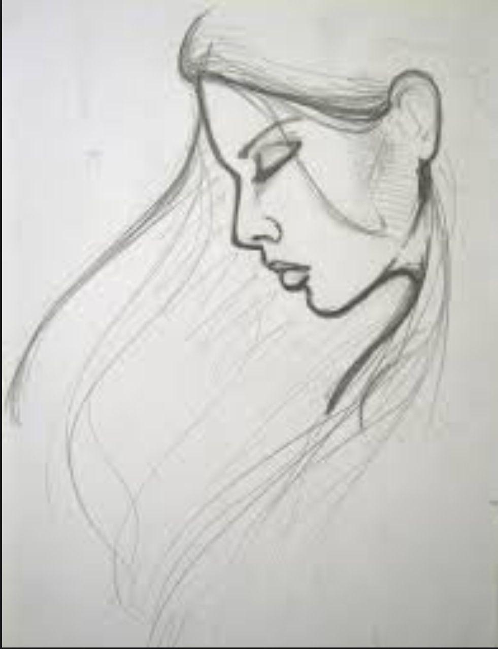 Pencil sketch drawing romance art