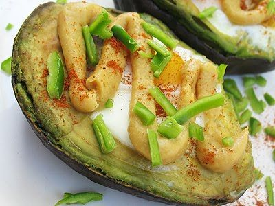 Baked Avocado and Egg with Miso Butter