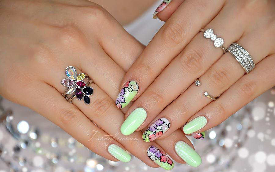 Nail art fleur printemps pastel fluo neon beaut pinterest nail art fleur fleurs - Nail art printemps ...
