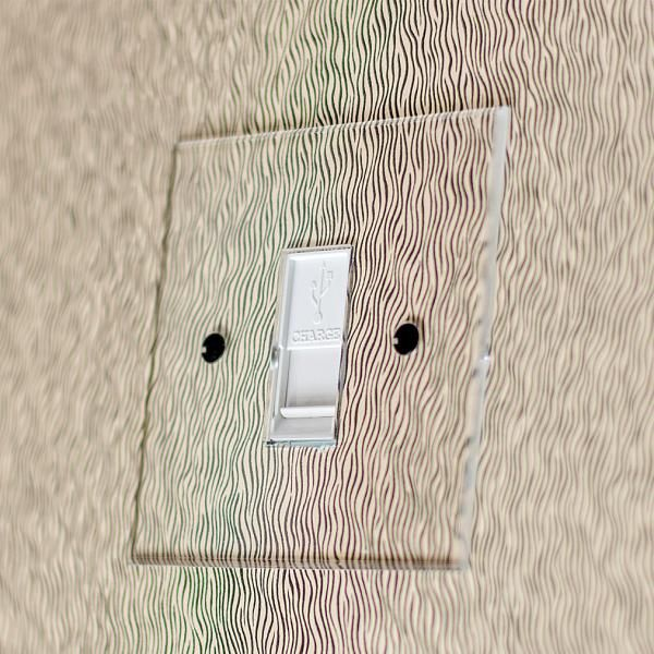 Invisible USB Charger Socket with white insert