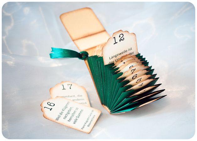 Adventskalender - Mini-Adventskalender Natur-Grün - ein Designerstück von Schnipselmanufaktur bei DaWanda #calendrierdelavent