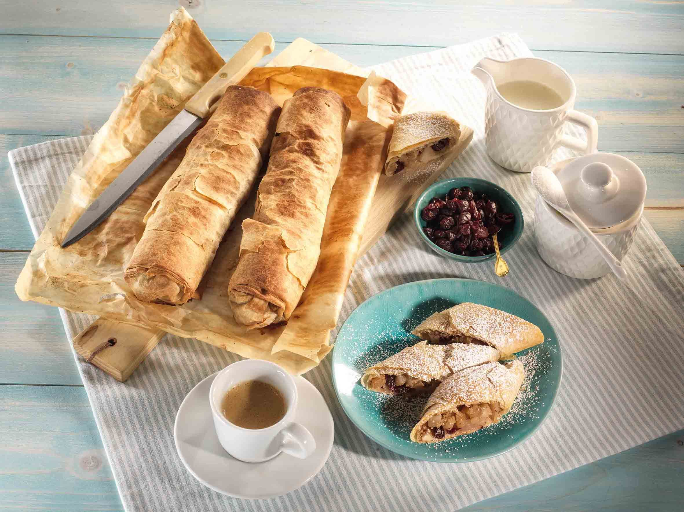 cranberry strudel rezept vegane rezepte so einfach gut pinterest birnen apfel und. Black Bedroom Furniture Sets. Home Design Ideas