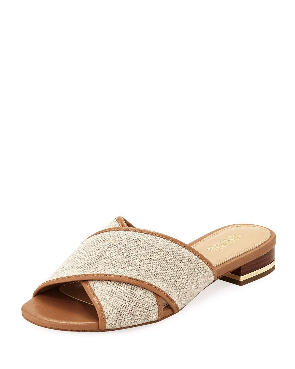 Shelly Leather Slide Sandals dXTpSN
