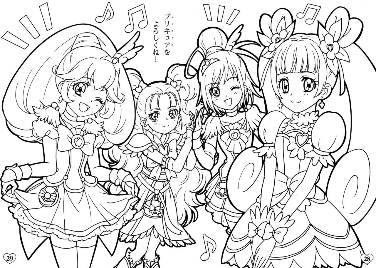 Glitter Force Coloring Pages Glitter Force Doki Doki