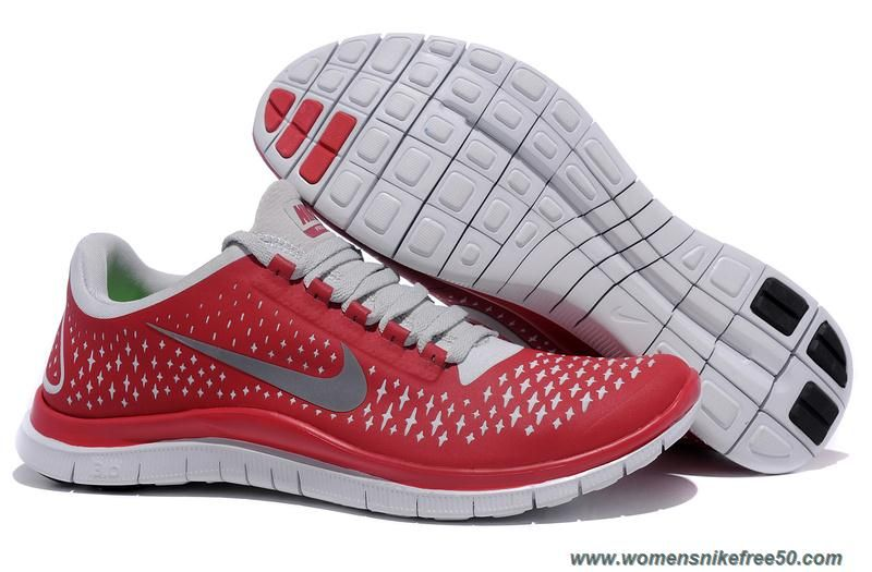 Nike Mens Reflective Silver Red Free 3.0 V4 511457-600