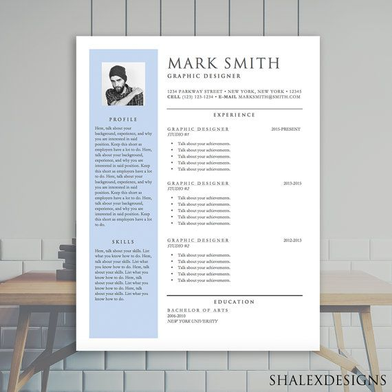 Resume Template with Sidebar - Microsoft Word Doc *INSTANT DOWNLOAD ...