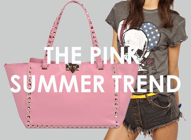 The summer is PINK! How to wear pink designer leather handbags <3 Be your own stylish self - Be Nameless!