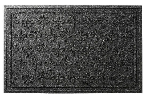2'x3' Fleur Field Mat, Charcoal on OneKingsLane.com