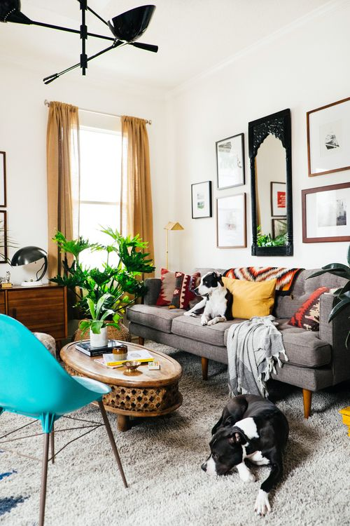 My Small Living Room Makeover For West Elm  Pets&decor
