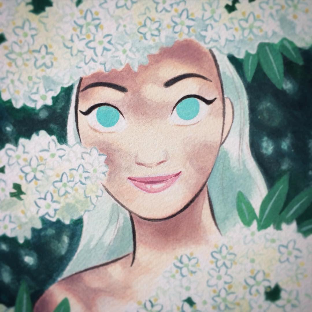 Sunmee Joh : 'E' is for Elderflower~ #gouache #floweralphabet #painting #elderflower»